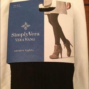 Simply Vera Wang NWT Paisley Tights / Black